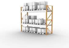 Free Pallet Rack Stock Photography - 17762202