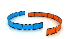 Free Colored 3d Blank Films Royalty Free Stock Photo - 17762255