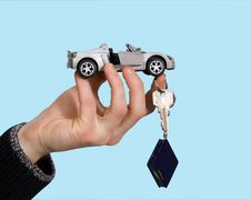 Free Toy Car On His Hand Royalty Free Stock Image - 17762296