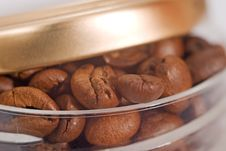 One Can Of Coffee Beans Stock Photography