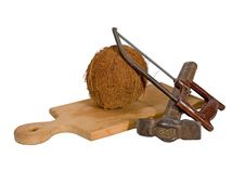 Free Coconut Hacksaw Hammer Stock Image - 17762311