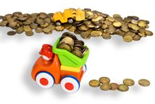 Free Gold Coins Transportation Royalty Free Stock Images - 17762329