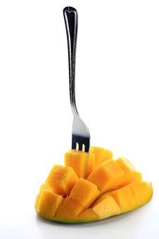 Free Mango&fork Royalty Free Stock Image - 17762546