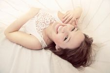 Free Young Beautiful Girl In A Bed Stock Images - 17762994