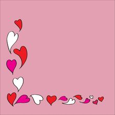 Hearts Frame For Love Season Stock Images