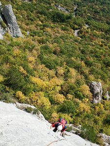Free Latvia Route On Uarch-Kaya Mountain, Crimea. Stock Photo - 17764200