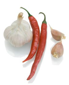 Free Garlic And Chilly Peppers Stock Photos - 17764613
