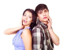 Free Teenage Couple Royalty Free Stock Photography - 17764627