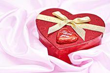 Free Heart Gift Box. Stock Photo - 17764630