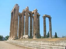 Free Zeus Temple S Pillars Stock Image - 17764671