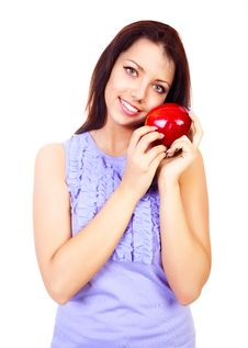 Free Girl With An Apple Royalty Free Stock Image - 17764686