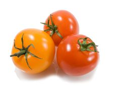 Free Red Ana Orange Tomatoes With Drops Of Water Royalty Free Stock Photo - 17764795