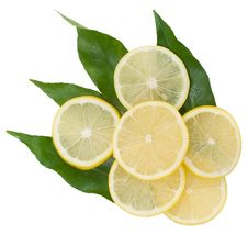Free Yellow Lemons On The Green Leaves Stock Photos - 17764903