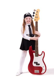 Free Teenage Rockstar. Stock Images - 17765464