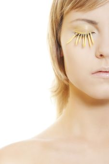 Free Woman Wearing Petal Eyelashes Stock Photos - 17765543