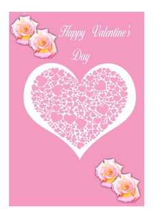 Free Happy Valentine S Day Card Illustration Royalty Free Stock Photography - 17765647