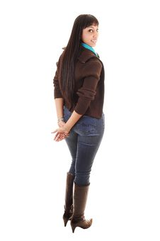 Free Girl In Jeans. Royalty Free Stock Images - 17765789