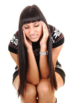 Free Girl With Headache. Stock Image - 17765881
