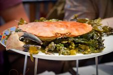 Free Crab On Plate Stock Images - 17766454