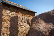 Free Wall Of Traditional Stone Breton House Stock Photo - 17766580