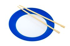 Plate And Chopsticks Stock Images