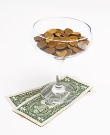 Free Cocktail From Money Stock Photography - 17769182