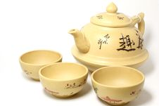 Free Chinese Teapot With Cups Stock Photo - 17769430
