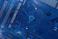 Free Computer Circuit Board In Blue Royalty Free Stock Images - 17769459