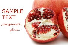 Free Pomegranate Isolated On White Stock Images - 17769574