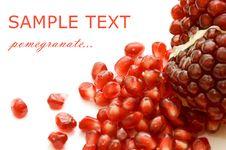 Free Pomegranate Isolated On White Stock Photography - 17769592