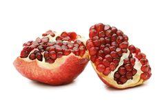 Free Pomegranate Isolated On White Stock Images - 17769594