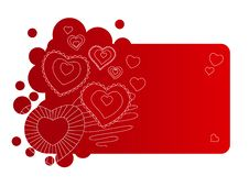 Free Red Frame With Contour Hearts Royalty Free Stock Photo - 17770185