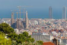 Free Panorama Of Barcelona Royalty Free Stock Image - 17770306