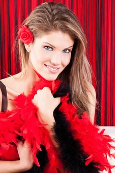 Free Young, Beauty Girl With Boa Royalty Free Stock Image - 17770656