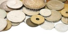 Free Old Coins Isolated On White Stock Images - 17770784