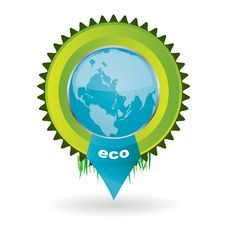 Free Vector Environmental Emblem With The Globe In It Stock Image - 17770851