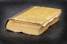 Free Old Book On A Grey Background Royalty Free Stock Image - 17771016