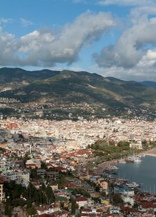 View Of The City Alanya Stock Images