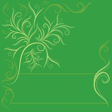 Free Design With Decorative Tree From Leafs Royalty Free Stock Images - 17772509