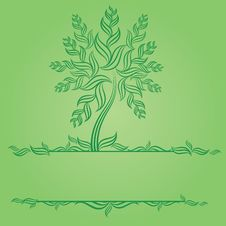 Free Design With Decorative Tree From Leafs Royalty Free Stock Image - 17772516
