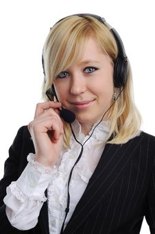 Free Young Woman With Headphones Stock Photos - 17772643
