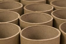Close Up Of Cardboard Tubes Stock Photography