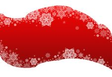 Free Winter Background Red&snowflakes Stock Images - 17773604