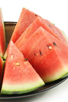 Cut Watermelon Stock Photo