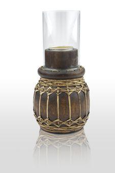 Free Wood Candleholder Royalty Free Stock Photo - 17774005