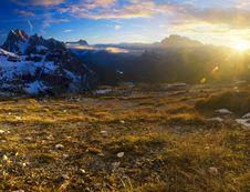 Morning Dolomites Landscape Royalty Free Stock Image