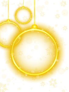 Free Golden Neon Christmas Ball Background Royalty Free Stock Images - 17774409