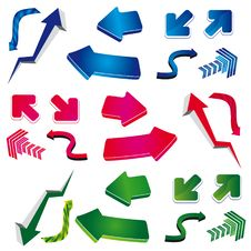 Set Of Arrows Design Royalty Free Stock Images