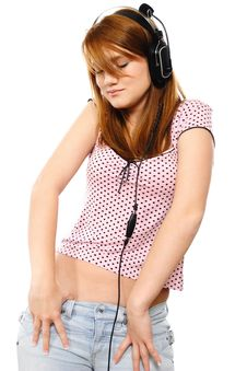 Free Young Redhead With Headphones Stock Image - 17775021