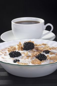 Free Cereals With Blackberry Stock Image - 17775211